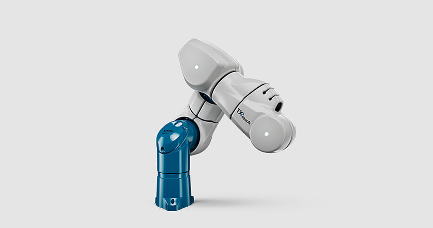 Stäubli TX2touch-60 collaborative robot covered with airskin