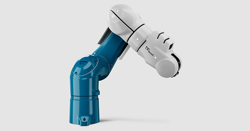 Stäubli TX2touch-90 collaborative robot covered with airskin