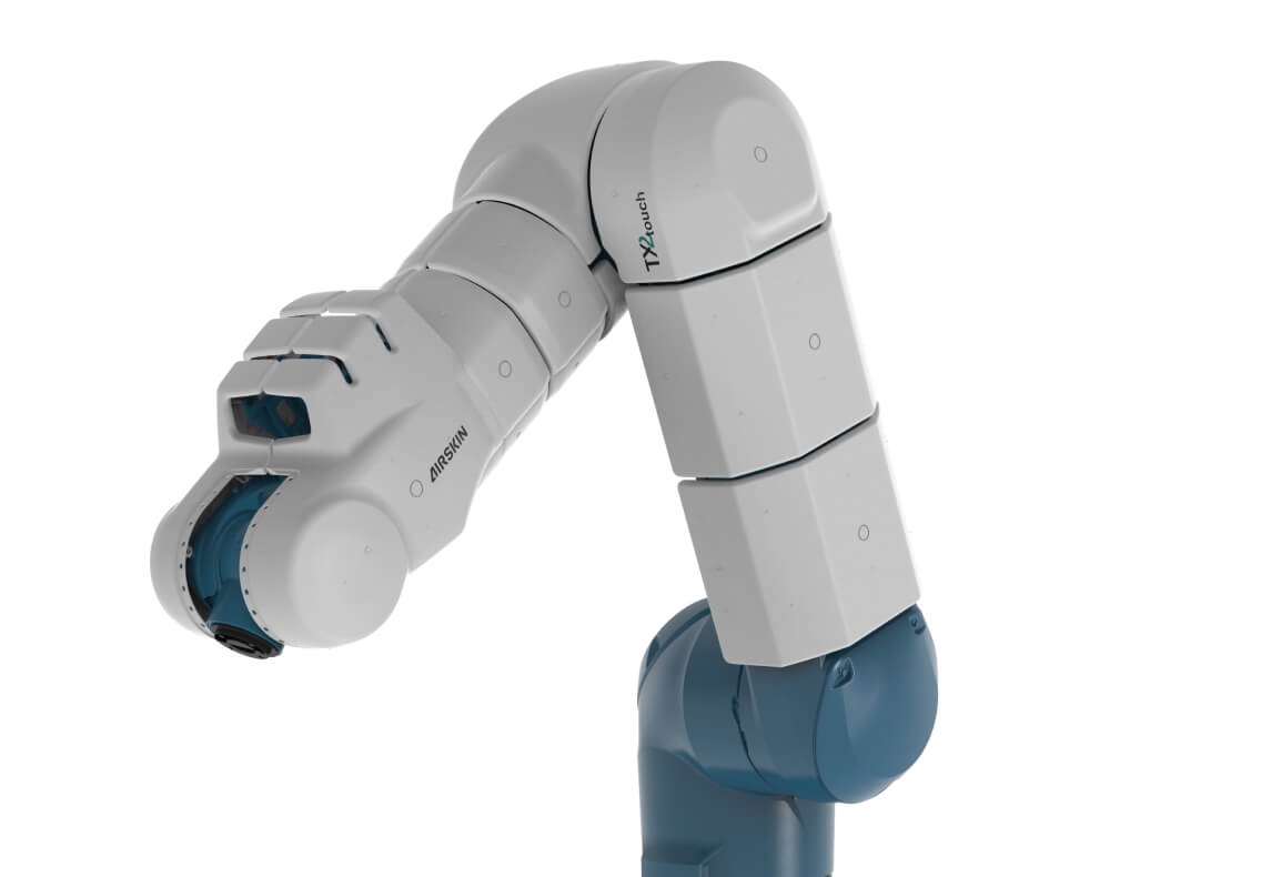 Stäubli TX2 robot covered with AIRSKIN